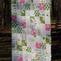 square patchwork baby quilt