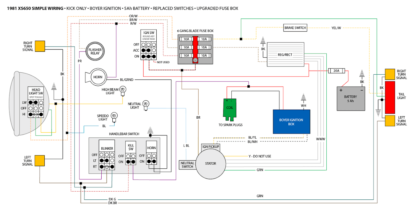 Xs400 Wiring Diagram | Wiring Diagram on