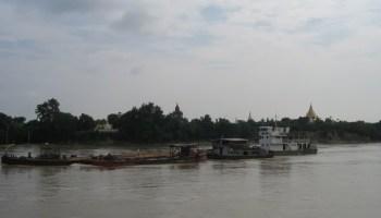 Irrawaddy River bank near Bagan