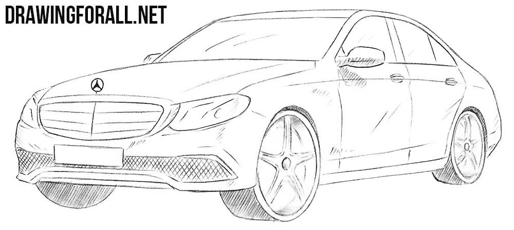Supercars Gallery: Mercedes Drawing