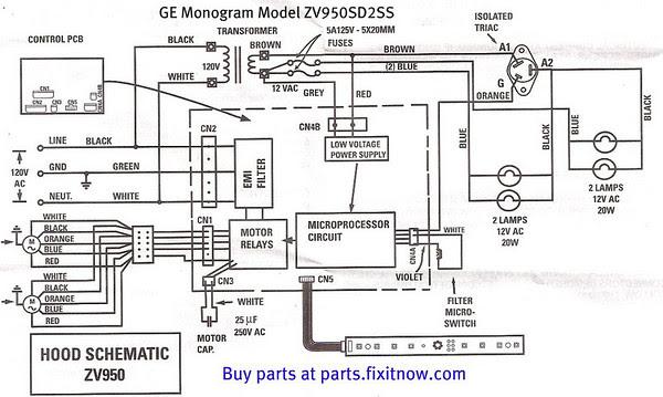 Ge Electric Range Wiring Diagram
