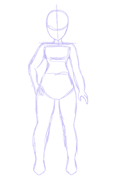 Drawing Body Base : drawing, Anime, Sketch, Drawing, Tutorial