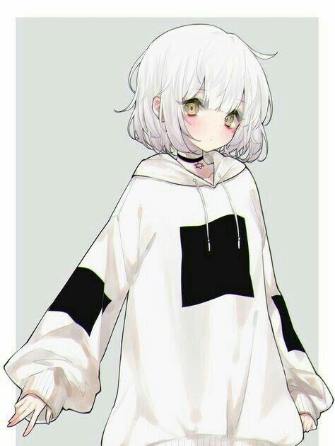 Anime Girl With Oversized Hoodie : anime, oversized, hoodie, Anime, Wearing, Oversized, Hoodie, Wallpaper