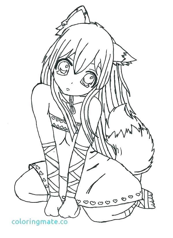 Wolf Anime Coloring Pages : anime, coloring, pages, Anime, Coloring, Pages, Drawing