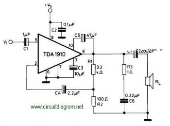10W Amplifier Circuit Based TDA1910 « Audio Circuit