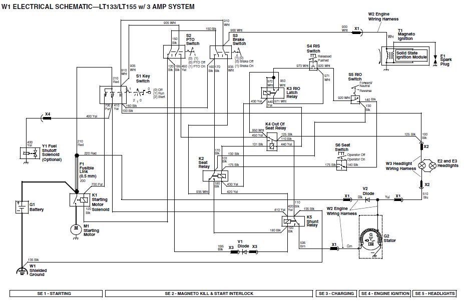 Secret Diagram: Chapter Wiring diagram john deere lt155