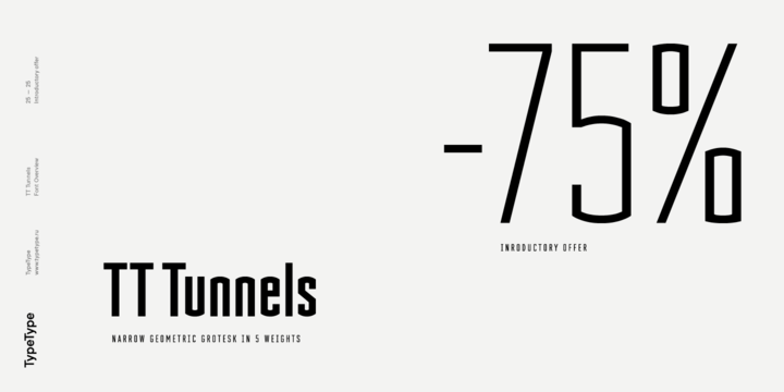Download TT Tunnels Font by TypeType ~ What The Fonts