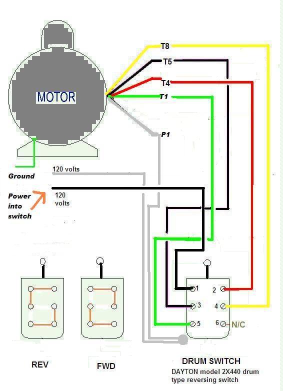 Dayton Motor Wiring Diagram : dayton, motor, wiring, diagram, Dayton, Electric, Motor, Diagram, Wiring