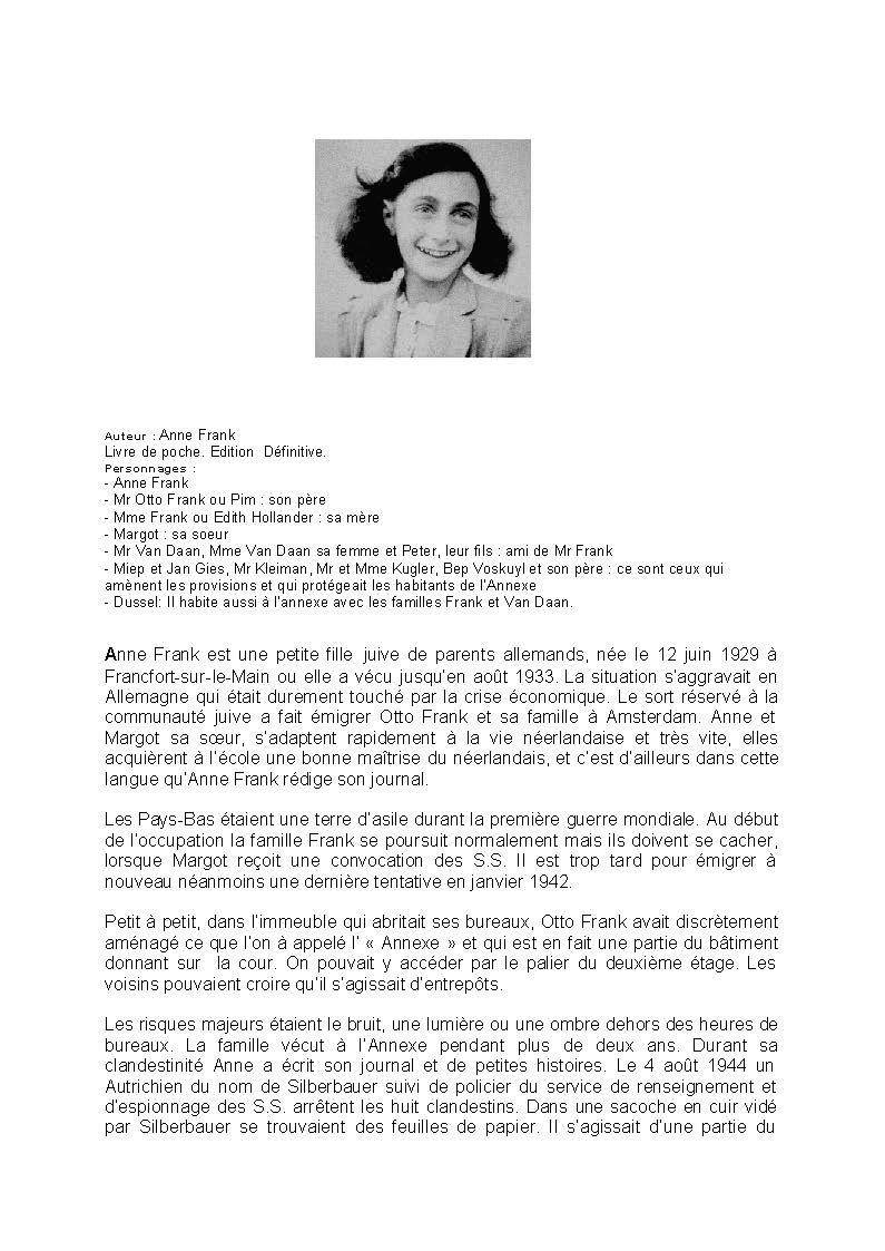 Resume Le Journal D Anne Frank : resume, journal, frank, Journal, Frank, Histoire, Aperçu, Historique
