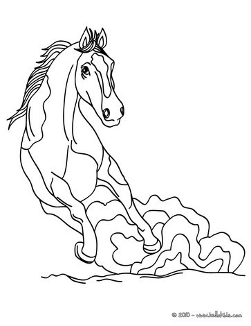 printable easter coloring pages: Common Horse