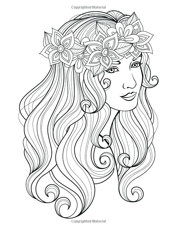 Coloring Pages For Girls Hard : coloring, pages, girls, Coloring, Pages, Girls, Printable