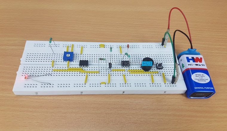 Low Cost Fire Alarm Circuit Using Transistor