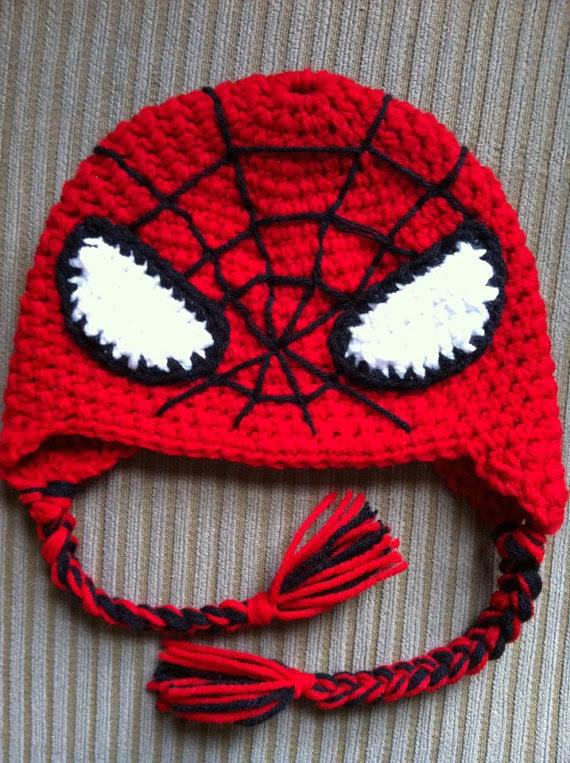 Crochet Spiderman Hats : crochet, spiderman, Spiderman, Knitting, Pattern