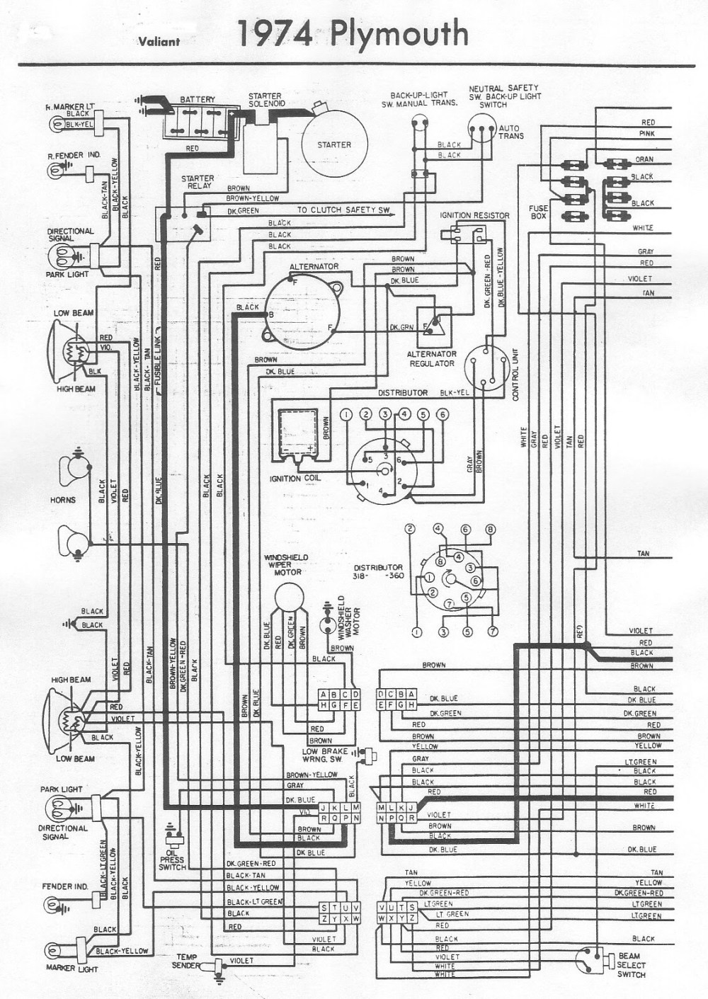 medium resolution of 1975 dodge valiant wiring diagram schematic
