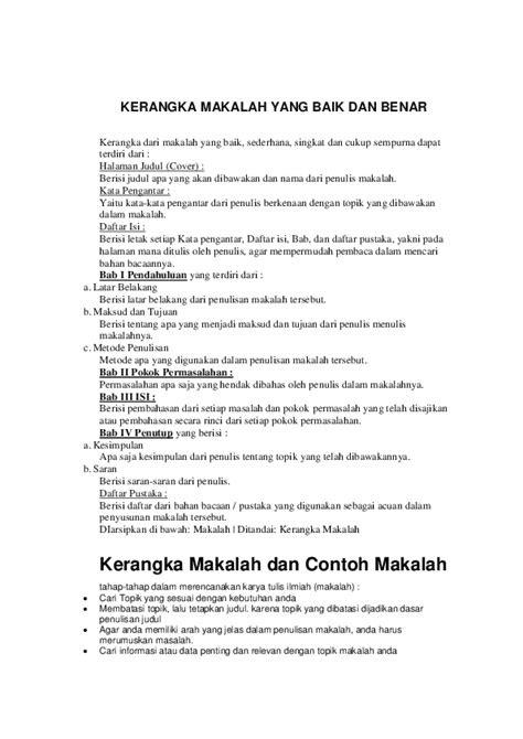 Kerangka Karya Tulis Yang Benar : kerangka, karya, tulis, benar, Contoh, Penulisan, Cover, Makalah, Benar, Kumpulan, Lengkap