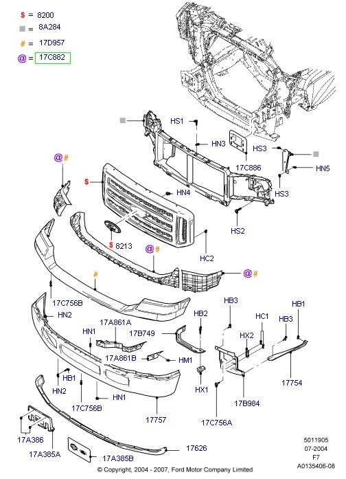 Ford Ranger Body Parts Diagram