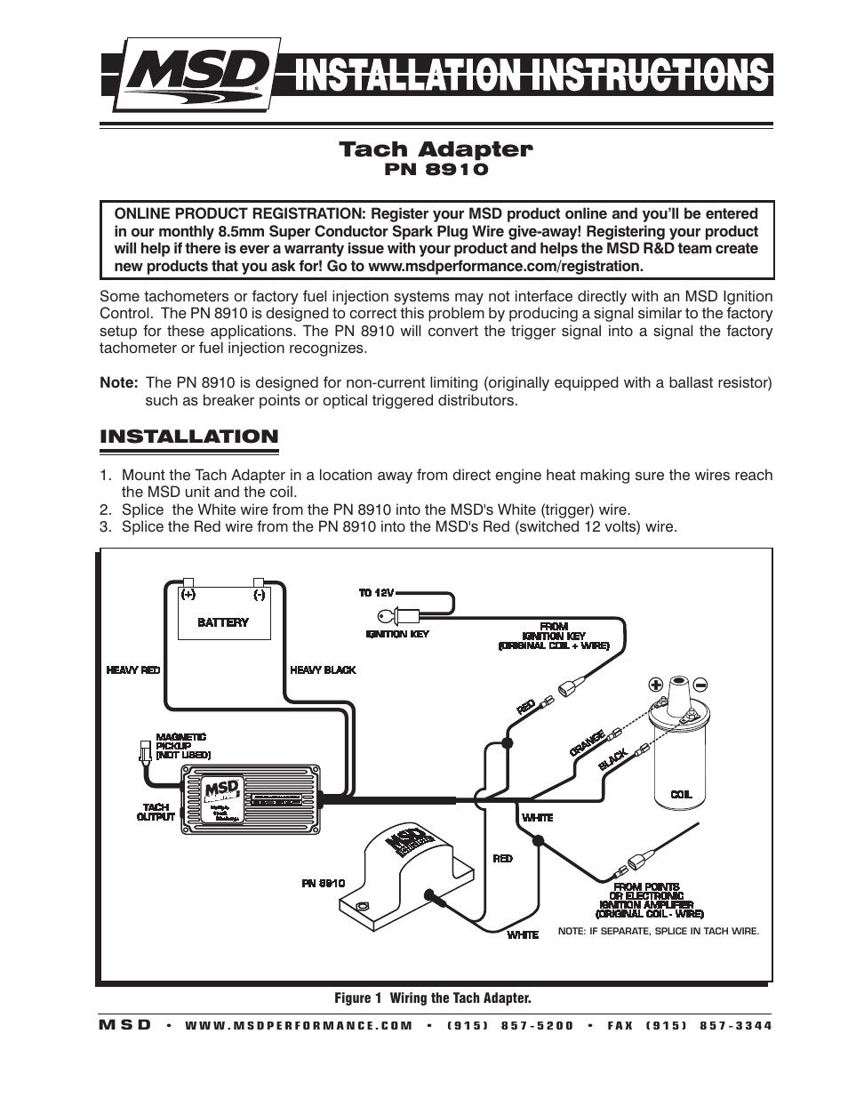 medium resolution of mallory tach adapter wiring