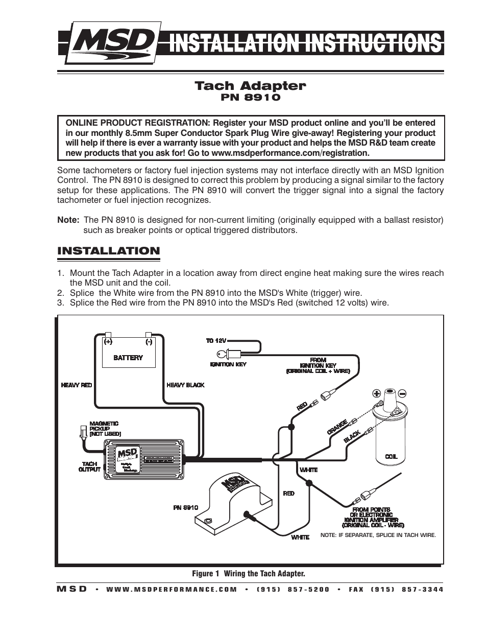 hight resolution of msd 6al wiring diagram for tach