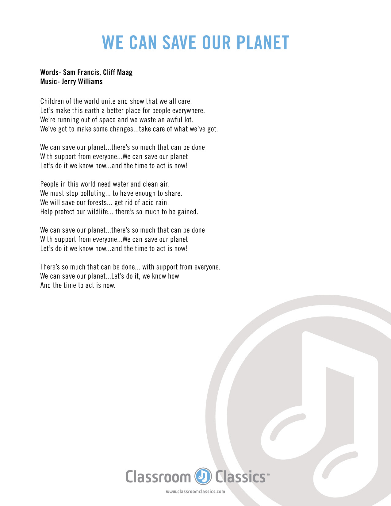 Earth Clean Lyrics : earth, clean, lyrics, Lyrics, Center:, Earth, Clean, Words