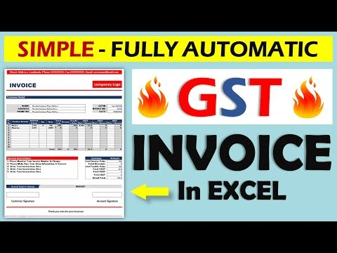 How To Create GST Invoice In Excel    Fully Automatic Invoice ...