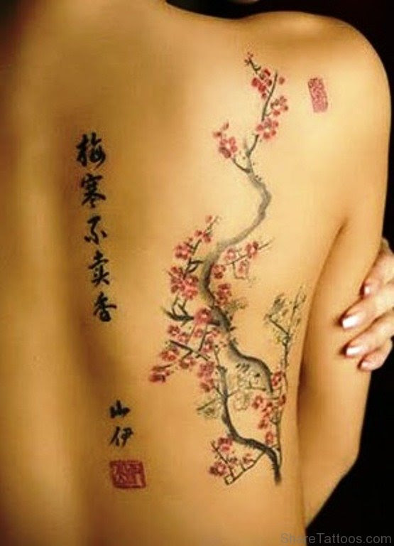Cherry Blossom Back Tattoos : cherry, blossom, tattoos, Japanese, Cherry, Blossom, Tattoo, Design