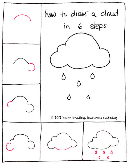 Cloud Drawing Easy : cloud, drawing, Clouds, Howto, Techno