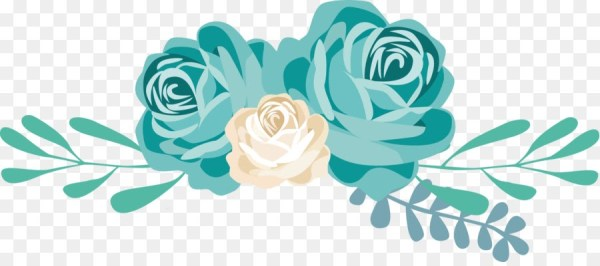floral flores azul tiffany