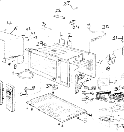 cabinet diagram and parts list for panasonic microwaveparts model wiring diagram today [ 1666 x 1181 Pixel ]