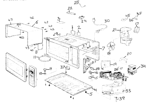 small resolution of cabinet diagram and parts list for panasonic microwaveparts model wiring diagram today