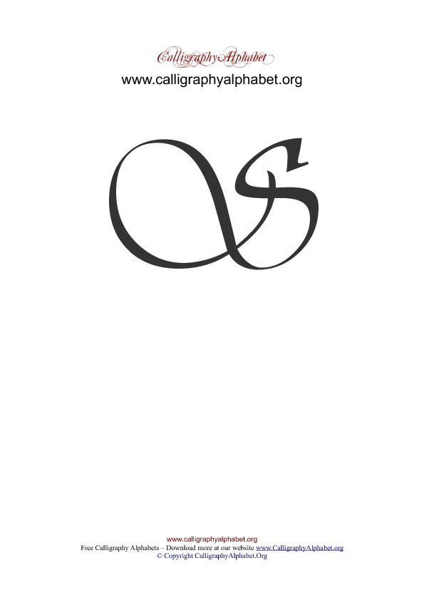 Cursive S Uppercase : cursive, uppercase, Cursive, Capital, Calligraphy, Alphabet, Letter