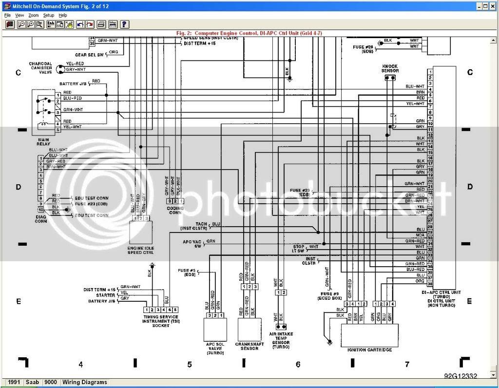 1997 Saab 9000 Radio Wiring Diagram