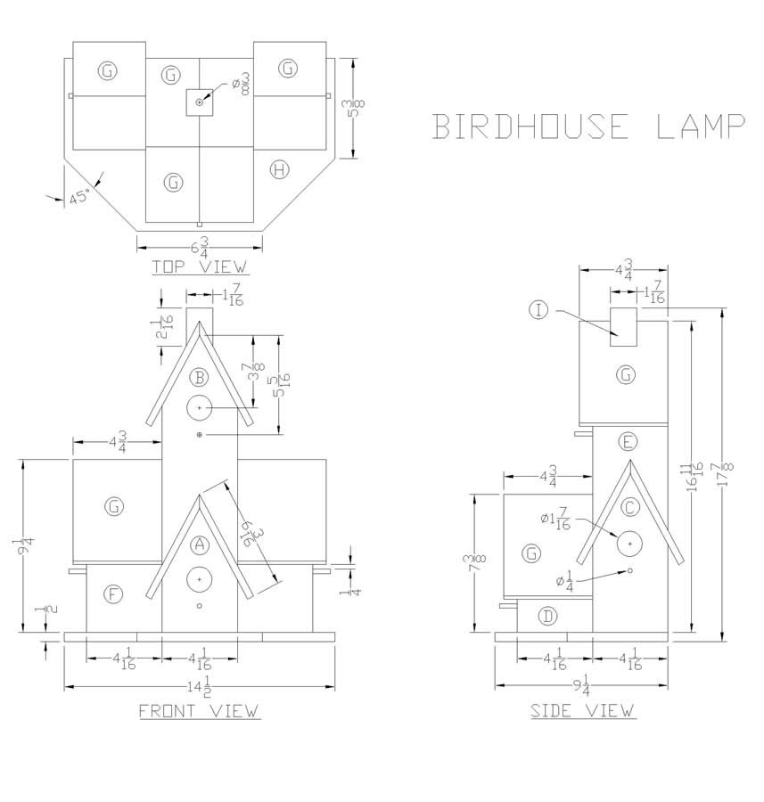 My Project: Free access Woodworking birdhouse plans