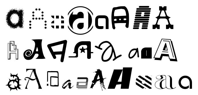 Megsy V Illustration: A-Z of Fonts