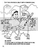 Printable Coloring Pages: Stranger Safety Coloring Sheets