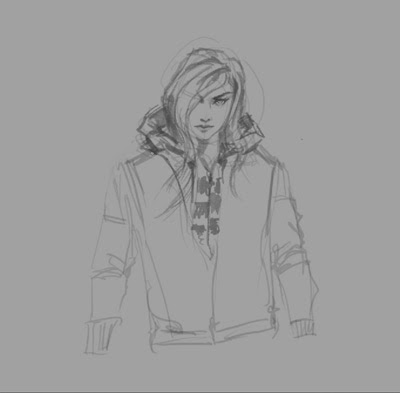 How to draw hoodie clothing