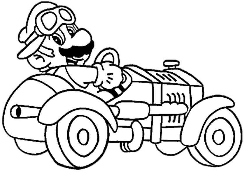 Ausmalbilder Super Mario Kart