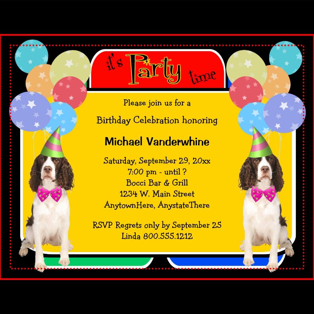 d invitation d anniversaire en anglais