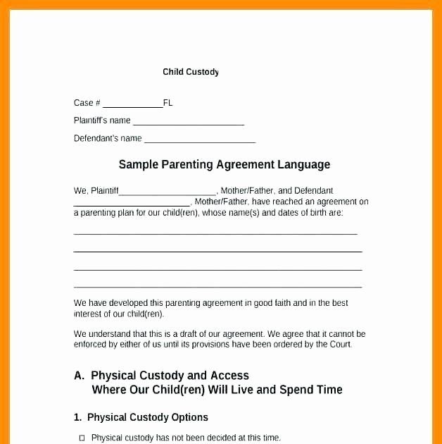 Reside for each day of the year, and how each parent fits into the custody agreement. Legal Structure Sample Child Custody Agreement For Unmarried Parents Pdf