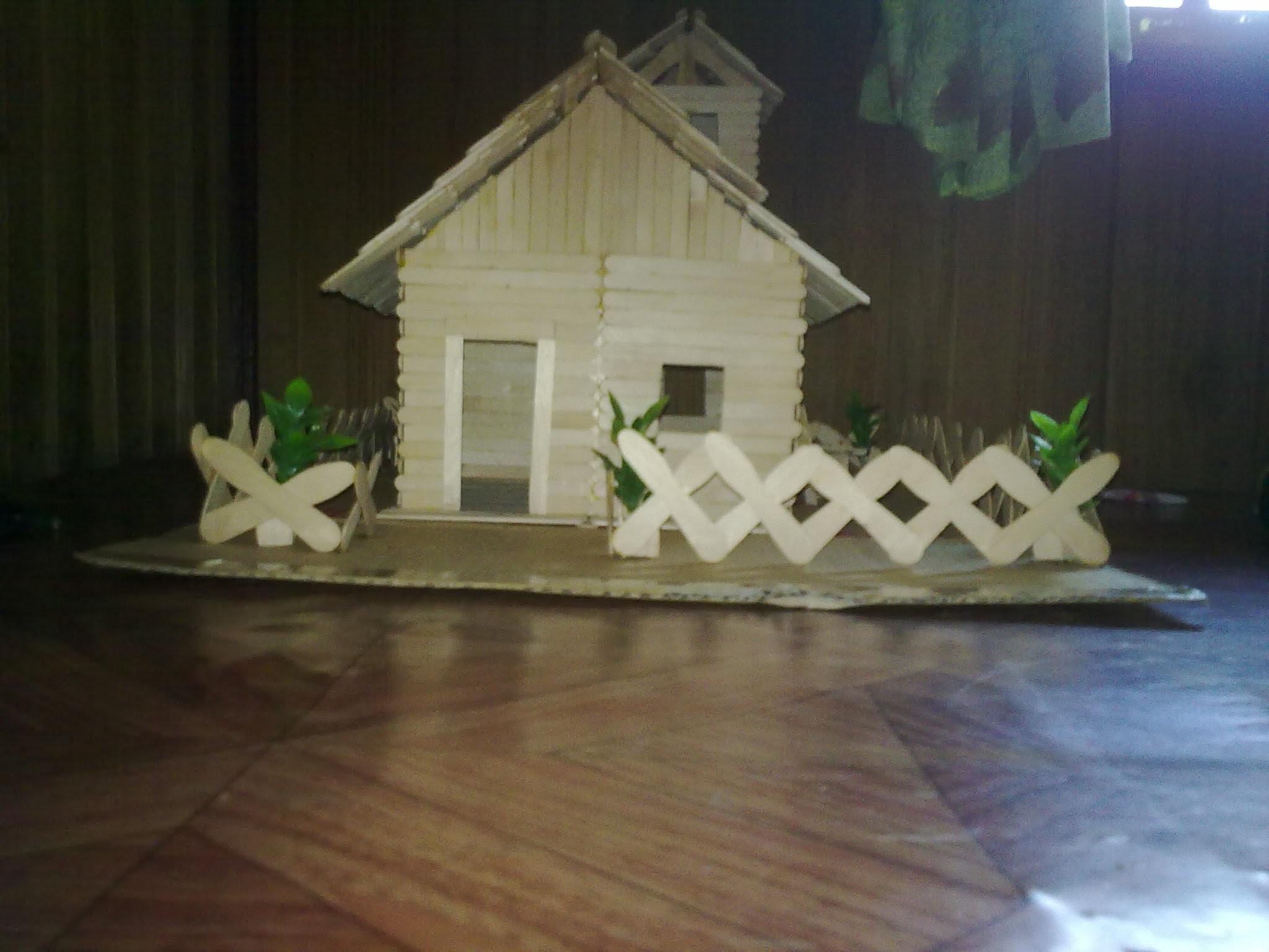 Miniatur Rumah Joglo Dari Stik Es Krim Goreng Info Wisata Hits Pagar dari stik es krim