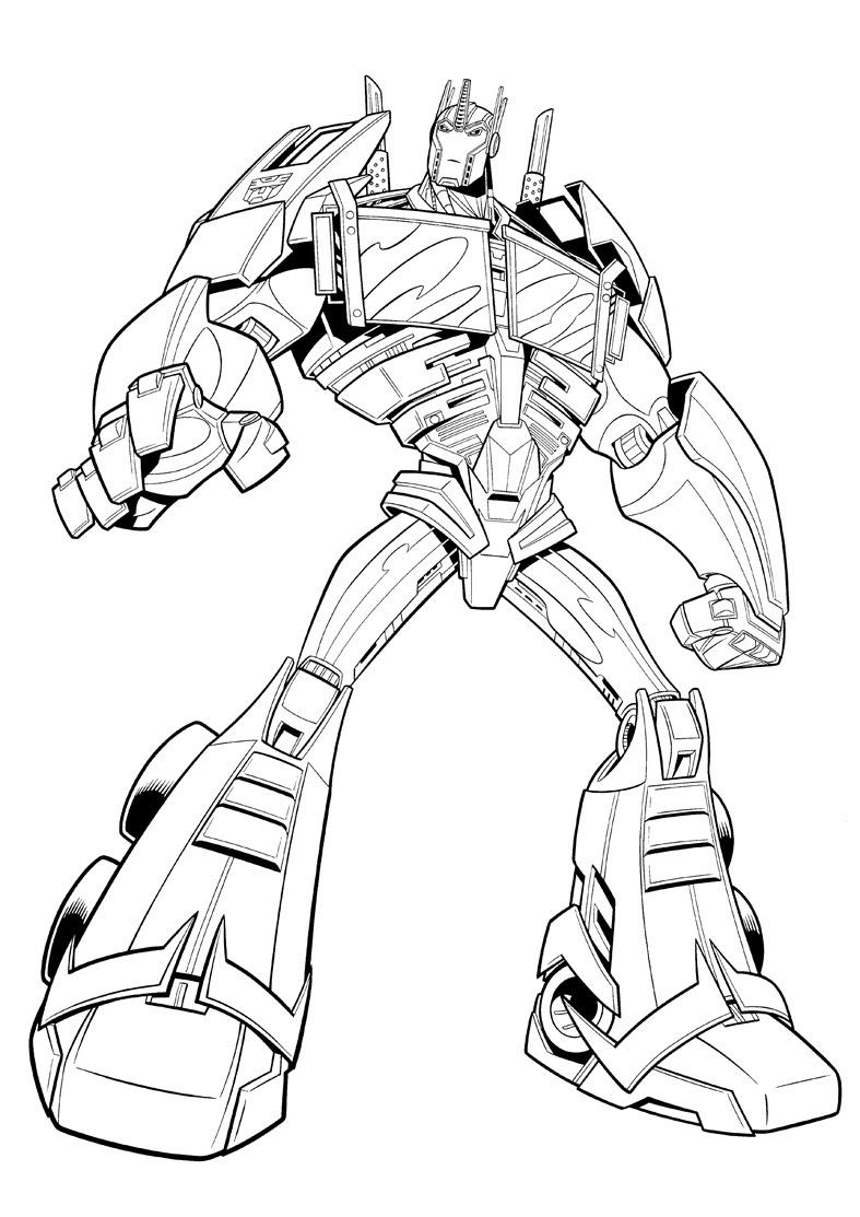 Unico Disegni Da Colorare E Stampare Transformers Optimus