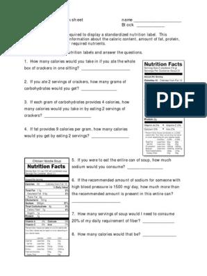 Nutrition Label Worksheet Answers : nutrition, label, worksheet, answers, Nutrition, Label, Worksheet, Answer, Doritos, Labels, Database
