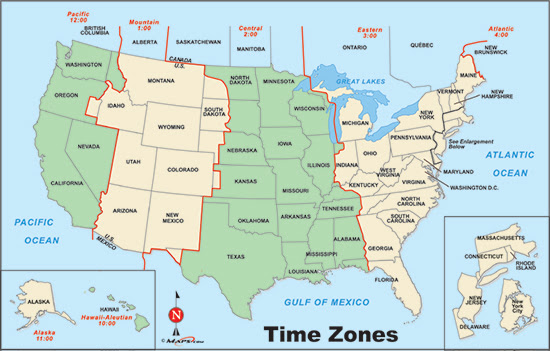 Just click on any state above and see the current time and date. Us Time Zone Map Freetemplate