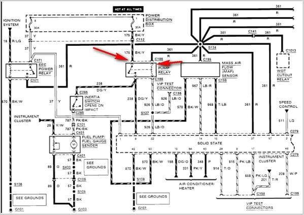 1991 ford explorer fuel pump wiring diagram