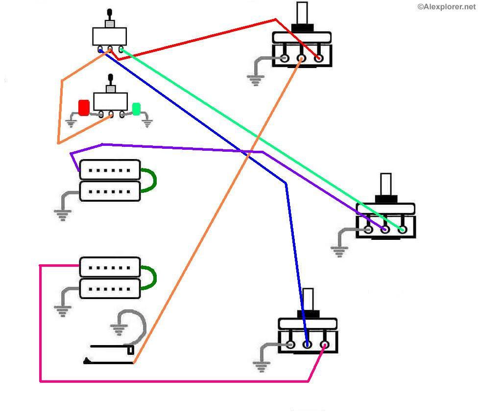 medium resolution of wiring schematic p90 pick up