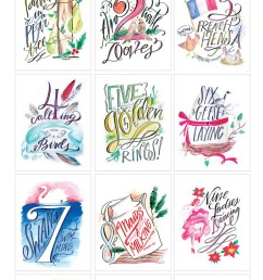 lindsay letters 12 days of christmas printables  [ 736 x 1564 Pixel ]