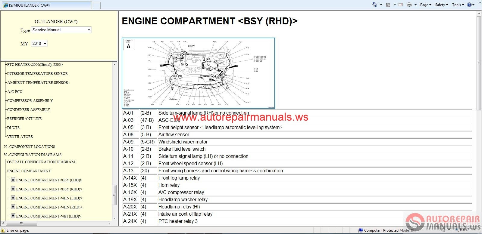 hight resolution of mitsubishi outlander 2010 service manual auto repair manual forum