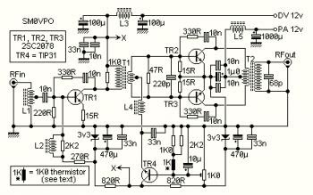 Amplifier Circuit Diagrams 1000w Radio Frequency Amplifier 10w Linear Rf Amplifier Circuit