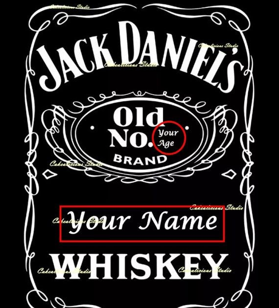 34 jack daniels custom label template