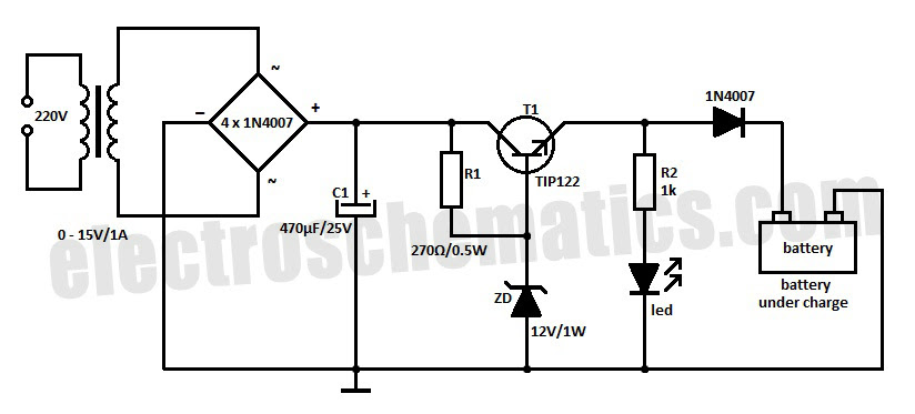 siwire: 20amps 12 Volt Float Battrey Charger Circuit Diagram