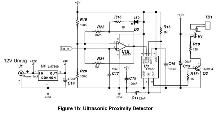 ultrasonic motion detector schematic diagram